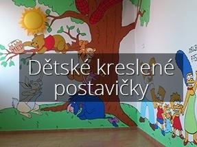 Dětské kreslené postavičky - Malby Vladimír Fišer