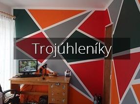 Dekorační malířské práce (trojúhelníky) - Malby Vladimír Fišer